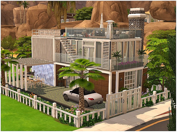 Sims 4 Tiny Open View family home by lotsbymanal at TSR