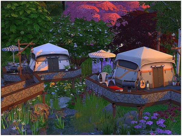 Sims 4 Cinema Camping by lotsbymanal at TSR