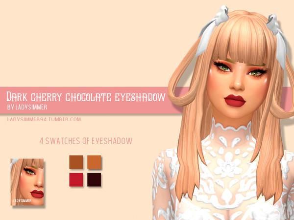 Sims 4 Dark Cherry Chocolate Eyeshadow by LadySimmer94 at TSR
