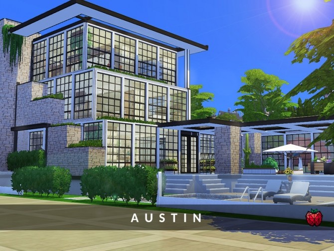 Austin contemporary house by melapples at TSR image 1740 670x503 Sims 4 Updates