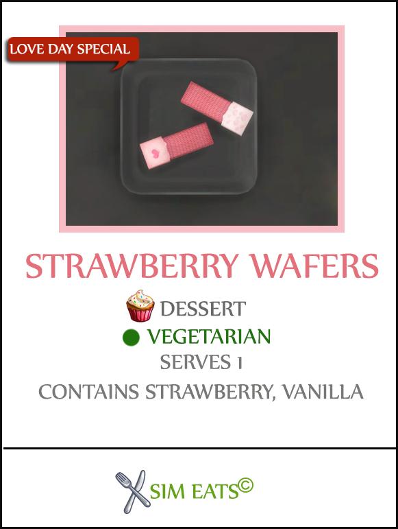 STRAWBERRY WAFERS at Icemunmun image 1746 Sims 4 Updates