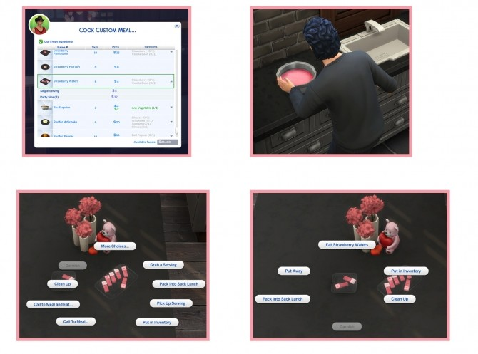 STRAWBERRY WAFERS at Icemunmun image 1756 670x497 Sims 4 Updates