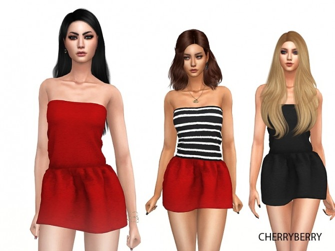 Sims 4 Lovely Party Dress at Cherryberry