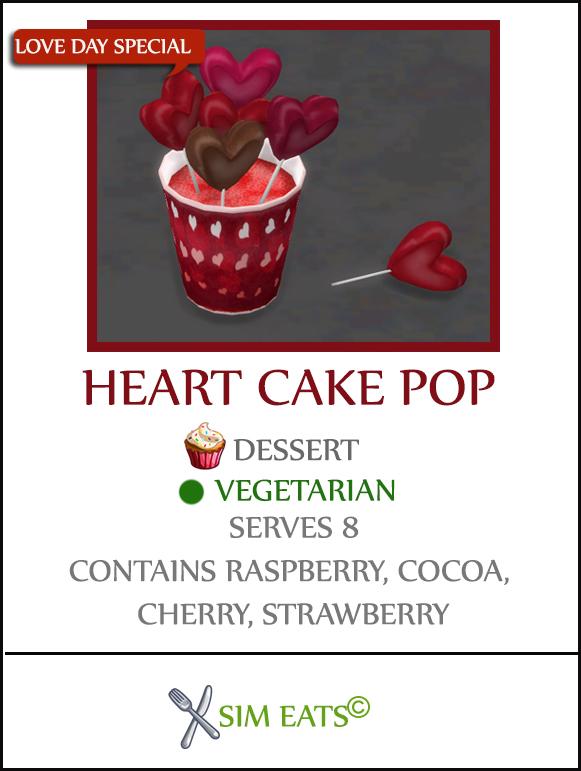 HEART CAKE POPS at Icemunmun image 1806 Sims 4 Updates