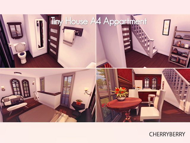 Tiny House A4 Apartment at Cherryberry image 182 Sims 4 Updates