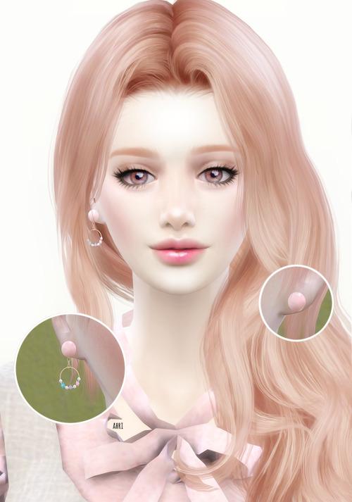 Sims 4 Rose gold cute earrings at Ahri Sim4