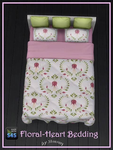 Floral Heart Beddings by Simmy at All 4 Sims image 1844 Sims 4 Updates