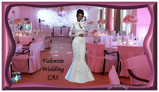 Sims 4 Valentine Wedding CAS background by Simmy at All 4 Sims