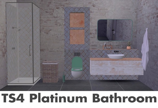 Recolors of Wondymoon's Platinum Bathroom at Riekus13 image 1871 670x456 Sims 4 Updates