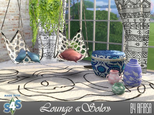 Sims 4 Solo lounge set at Aifirsa