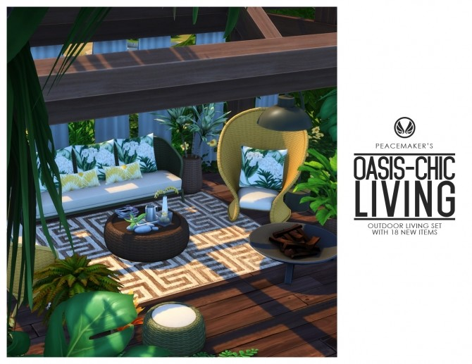 Oasis Chic Outdoor Wicker Living Set at Simsational Designs image 1902 670x517 Sims 4 Updates