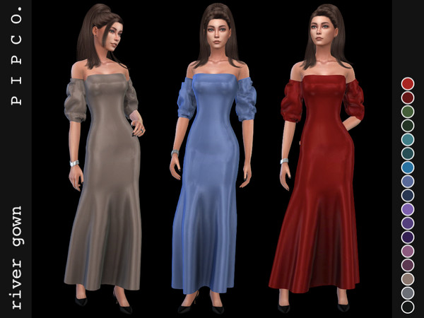Sims 4 River gown by Pipco at TSR