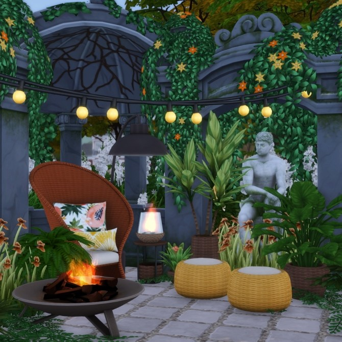 Oasis Chic Outdoor Wicker Living Set at Simsational Designs image 1916 670x670 Sims 4 Updates