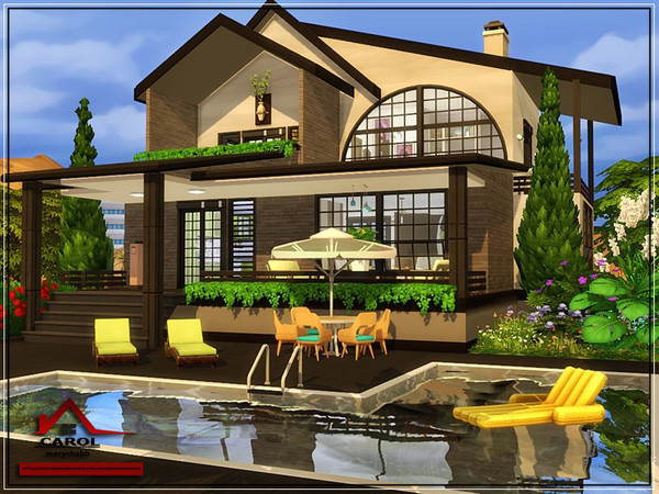 CAROL modern house NO CC by marychabb at TSR image 1924 Sims 4 Updates
