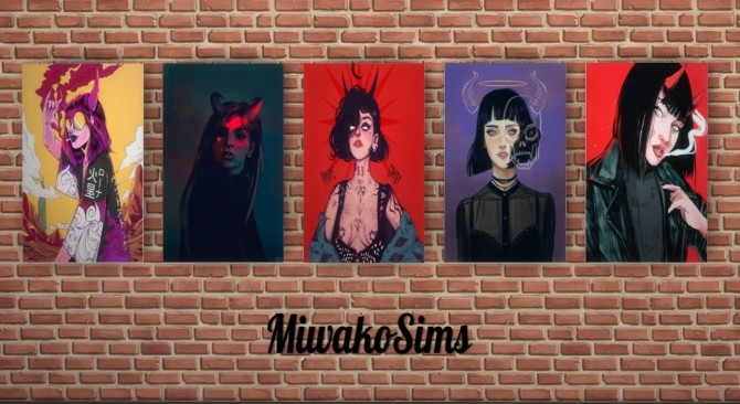 Sims 4 Collection #17 paintings at MiwakoSims