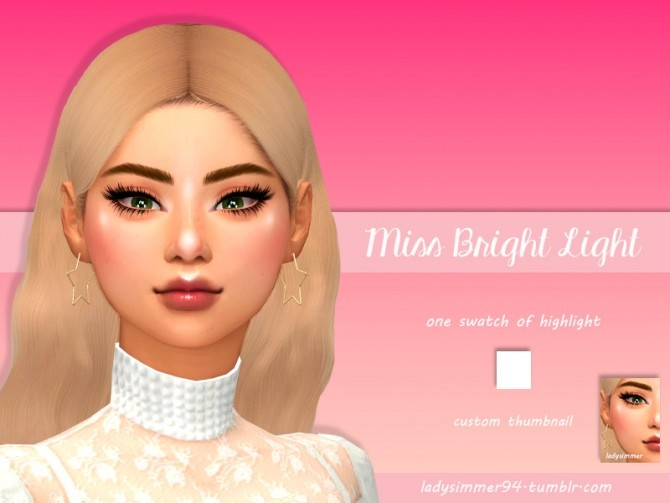Sims 4 Miss Bright Light by LadySimmer94 at TSR