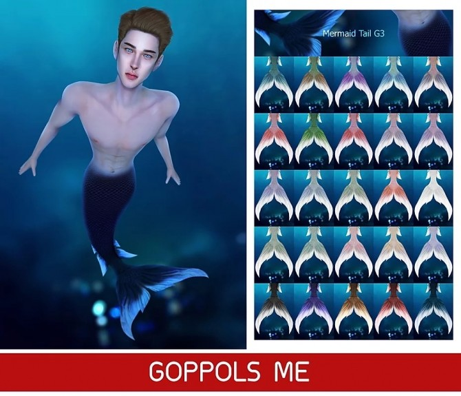 Sims 4 GPME GOLD Mermaid Tail G3 at GOPPOLS Me