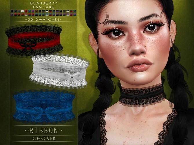 Ribbon choker at Blahberry Pancake image 1976 670x503 Sims 4 Updates