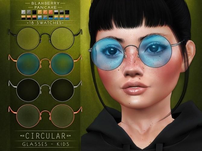 Circular glasses for Kids at Blahberry Pancake image 1984 670x503 Sims 4 Updates