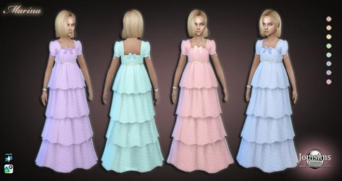 Sims 4 Marina dress at Jomsims Creations
