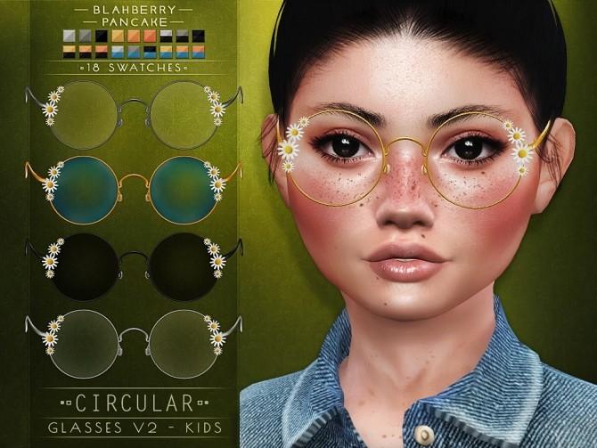 Circular glasses for Kids at Blahberry Pancake image 1994 670x503 Sims 4 Updates