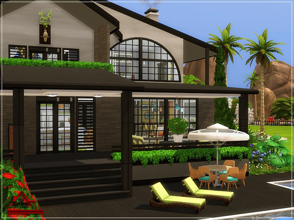 CAROL modern house NO CC by marychabb at TSR image 2020 Sims 4 Updates