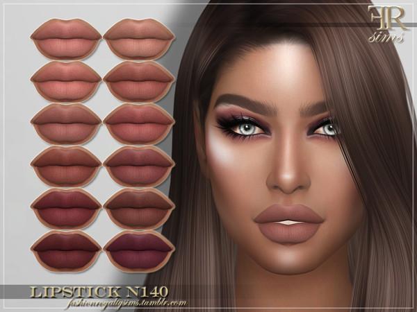 Sims 4 FRS Lipstick N140 by FashionRoyaltySims at TSR