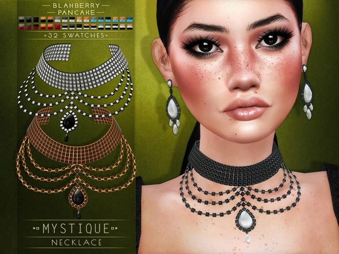 Mystique earrings and necklace at Blahberry Pancake image 2026 670x503 Sims 4 Updates