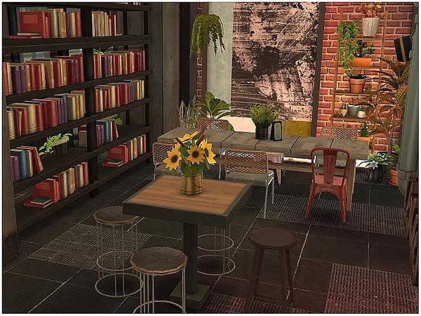 Sims 4 Industrial Restaurant by lotsbymanal at TSR