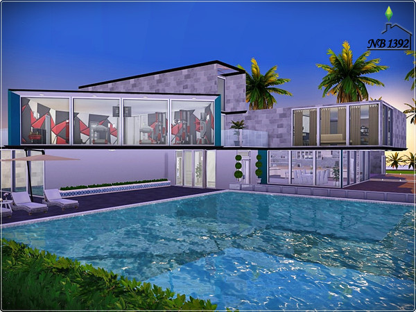 Sims 4 Ingrid modern spacious house by nobody1392 at TSR
