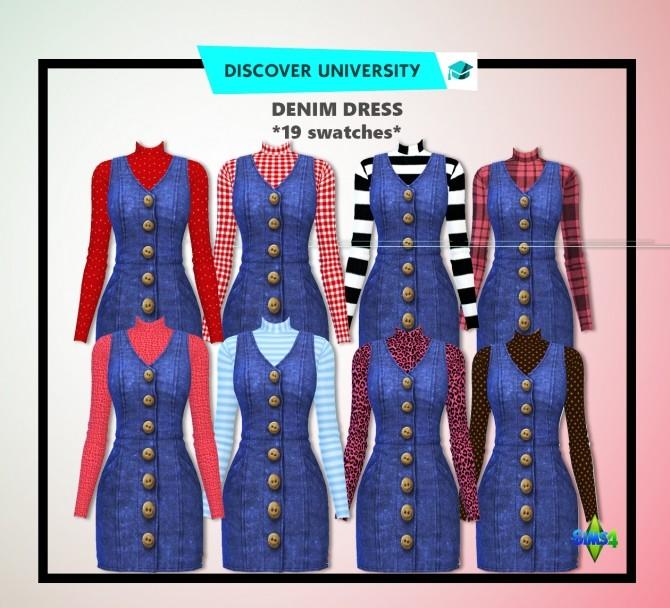 Sims 4 Denim Dress at Rimshard Shop