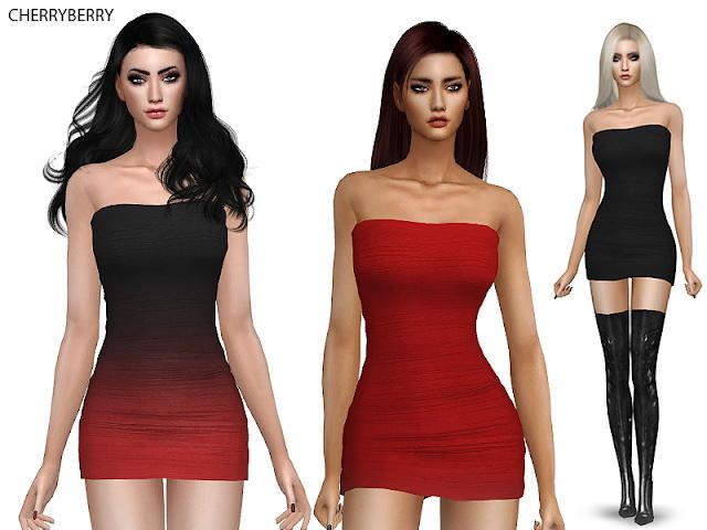 Tight Mini Dress at Cherryberry image 2092 Sims 4 Updates
