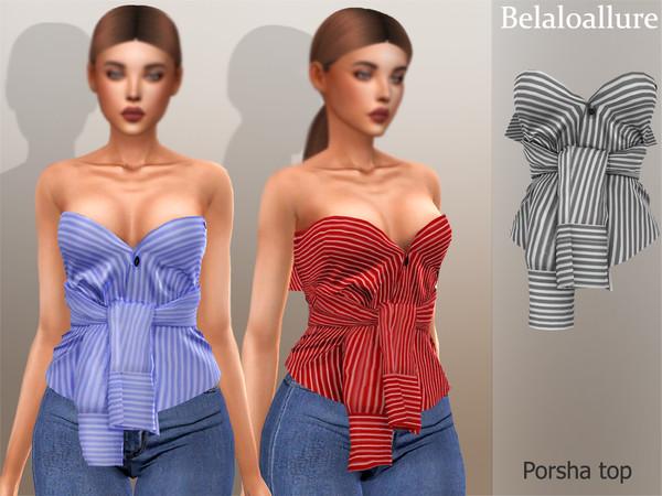 Belaloallure Porsha top by belal1997 at TSR image 2093 Sims 4 Updates