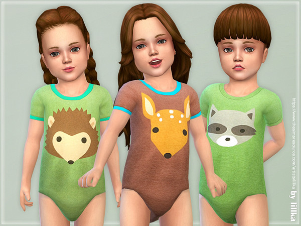 Toddler Onesie 08 by lillka at TSR image 2107 Sims 4 Updates