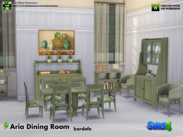 Sims 4 Aria classic rustic style dining room by kardofe at TSR
