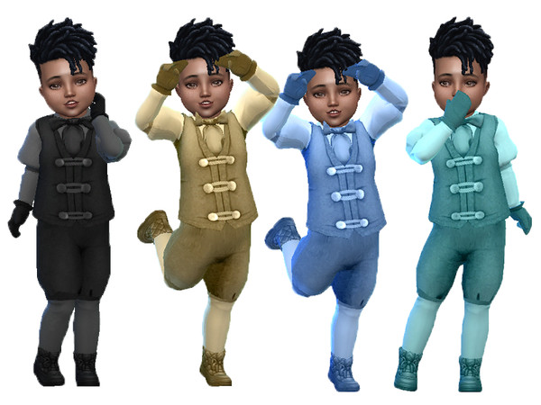 Sims 4 Toddler boy winter suit with shoes by TrudieOpp at TSR