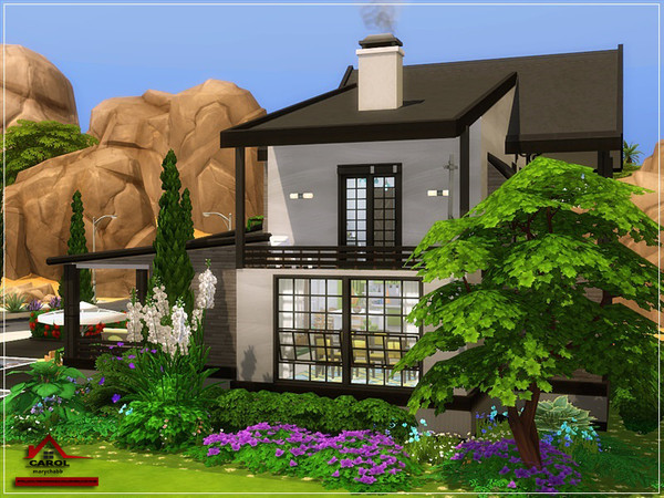 CAROL modern house NO CC by marychabb at TSR image 2120 Sims 4 Updates