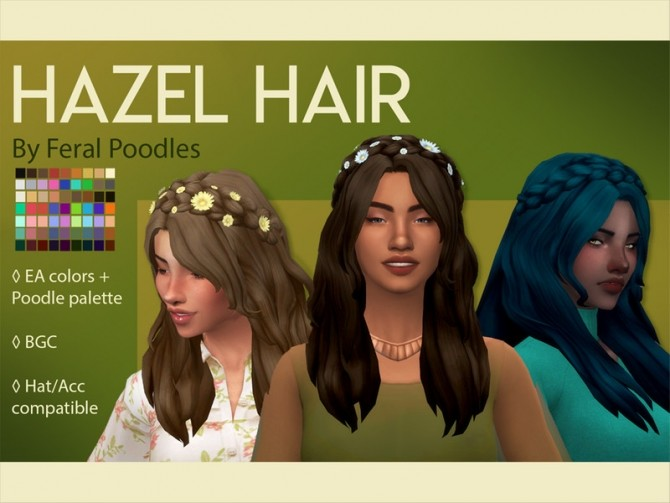 Hazel Hair by feralpoodles at TSR image 2149 670x503 Sims 4 Updates