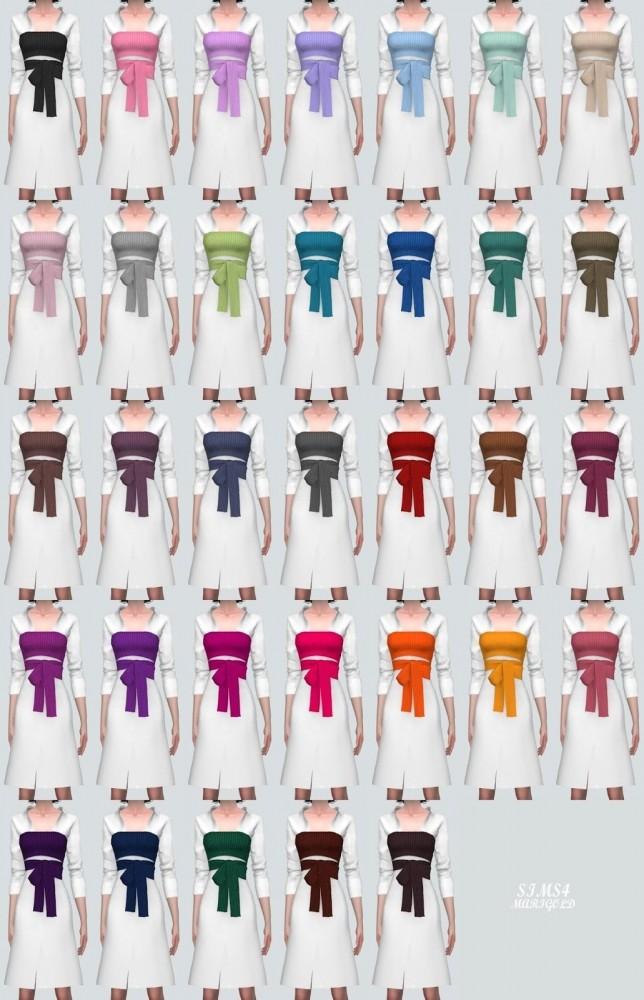Ribbon Bustier With Midi Shirts Dress at Marigold image 2195 644x1000 Sims 4 Updates