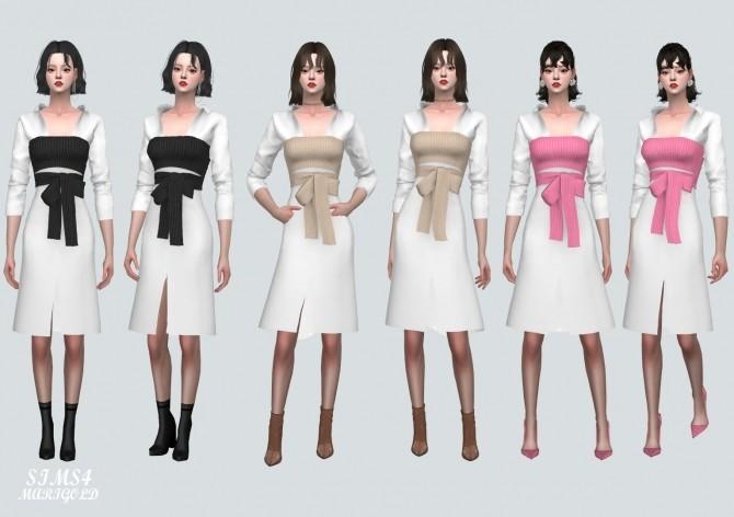 Ribbon Bustier With Midi Shirts Dress at Marigold image 2205 670x472 Sims 4 Updates