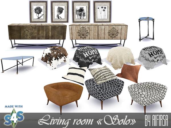 Sims 4 Solo living room at Aifirsa