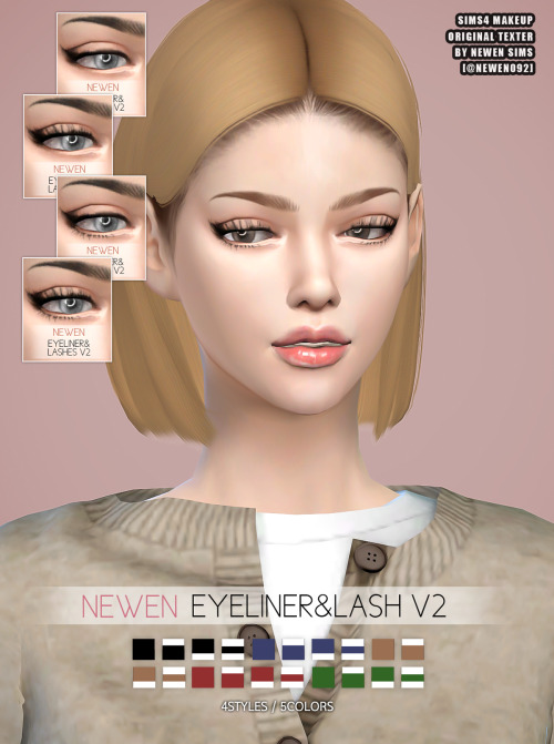 Eyebrows & Liner & Lips at NEWEN image 2264 Sims 4 Updates