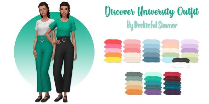Sims 4 Discover University outfit at Deeliteful Simmer