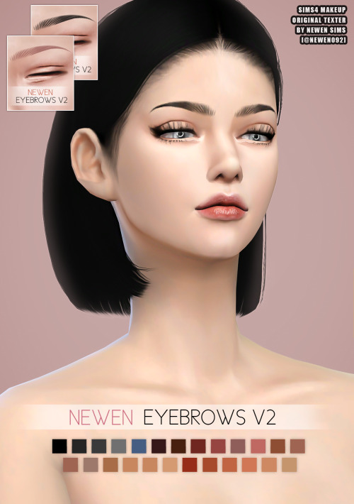 Eyebrows & Liner & Lips at NEWEN image 2274 Sims 4 Updates