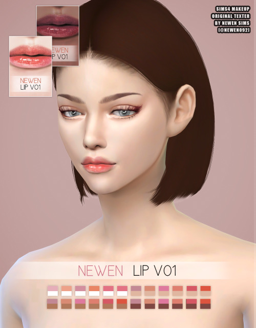 Eyebrows & Liner & Lips at NEWEN image 2284 Sims 4 Updates