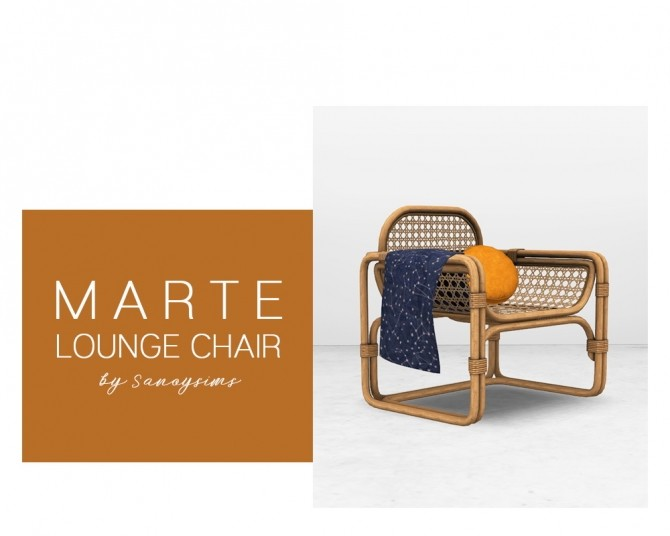 Marte lounge chair at Sanoy Sims image 2293 670x536 Sims 4 Updates