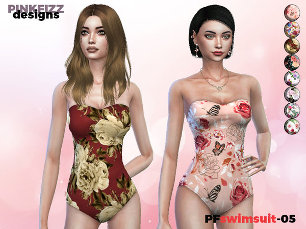 Tropical Swimsuit PF04 by Pinkfizzzzz at TSR image 2310 Sims 4 Updates