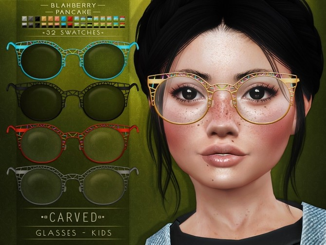Carved & Dual glasses for kids at Blahberry Pancake image 2331 670x503 Sims 4 Updates