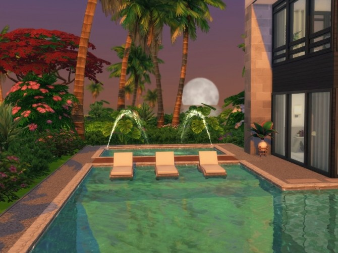 Sims 4 Modern Beach House by Summerr Plays at TSR