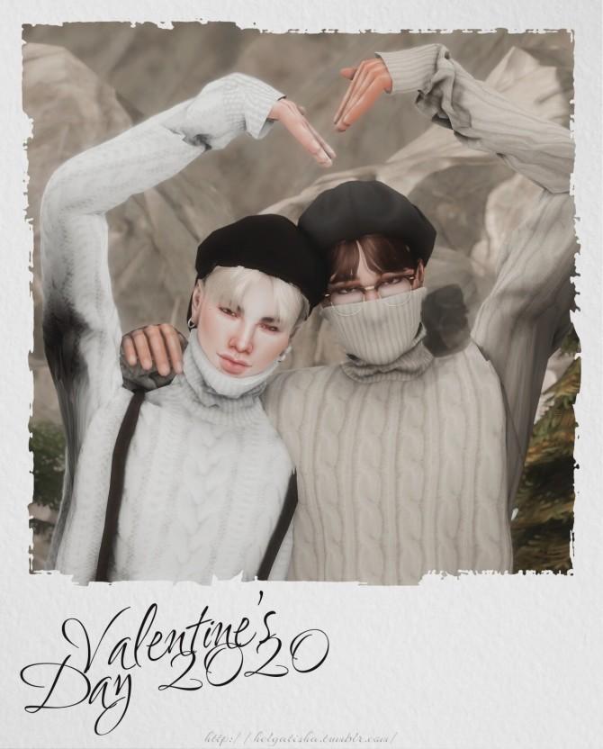 Valentine's Day 2020 Pose Pack at Helga Tisha image 2361 670x832 Sims 4 Updates